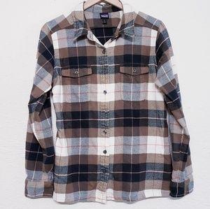 Patagonia Long-Sleeved Fjord Flannel Shirt sz 12